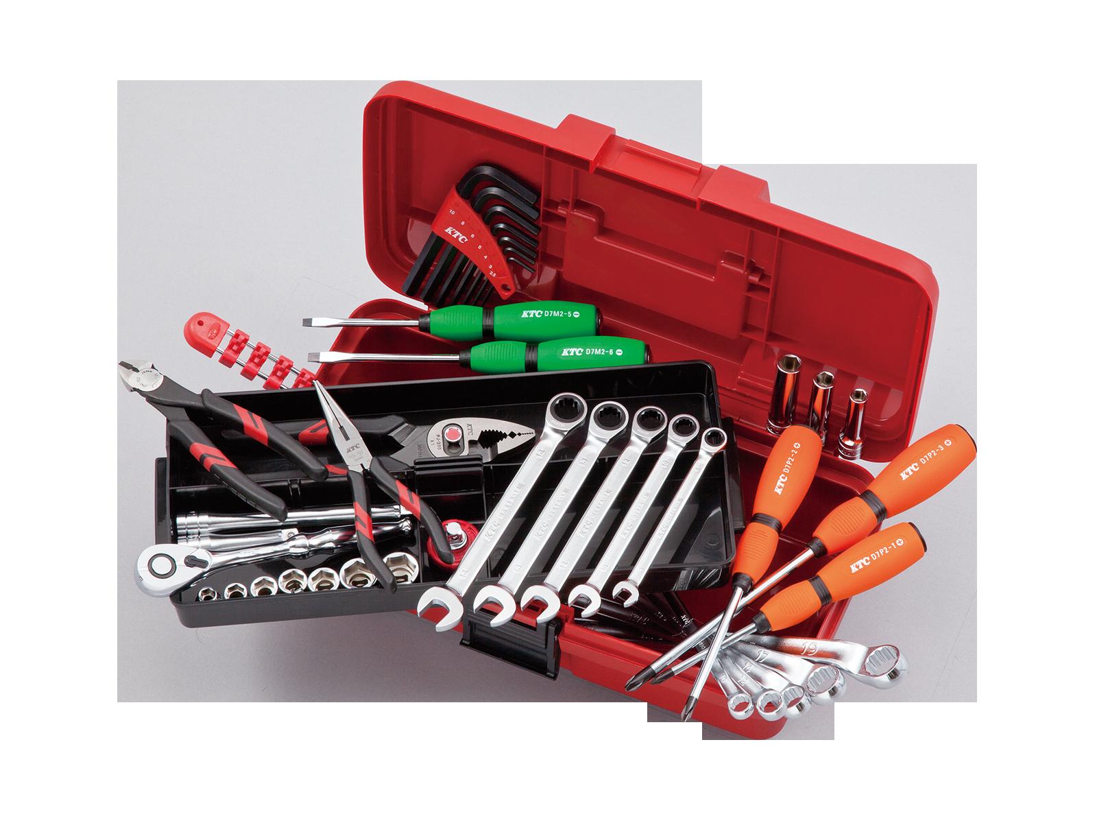 工具セット(片開きプラハードケースタイプ) | KTCツール ...