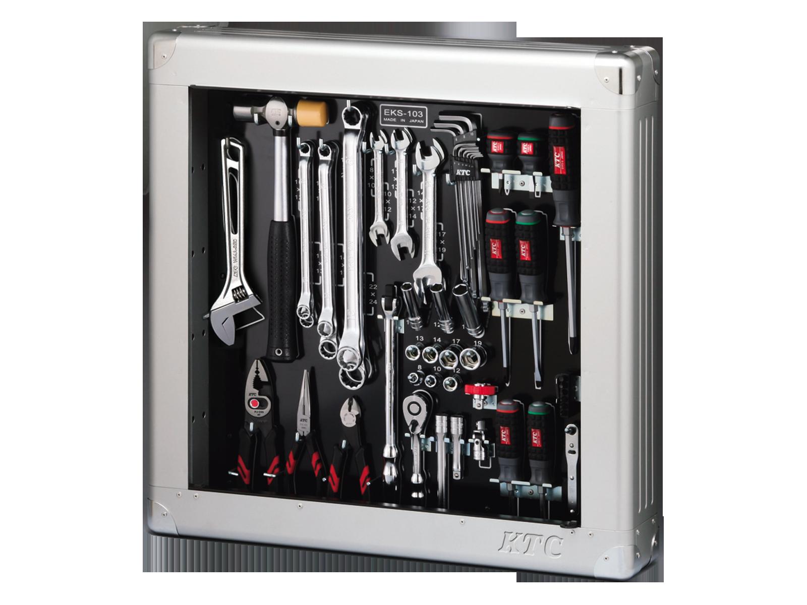 工具セット(薄型収納メタルケースタイプ) | KTCツール ...