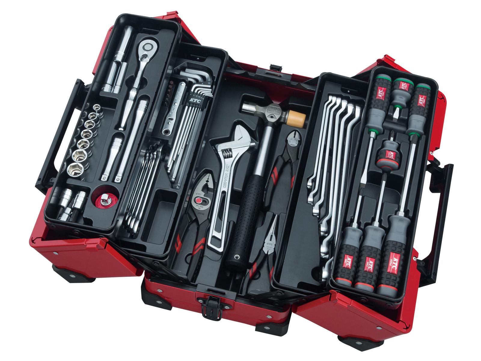両開きメタルケース採用 工具セット