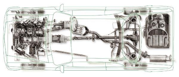 自動車線画イメージ