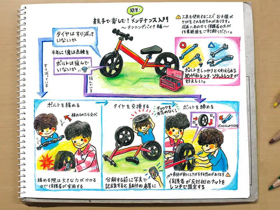 【なるほど!工具ノート DIY編:親子で楽しむ!簡単メンテナンス入門~ランニングバイク編~】