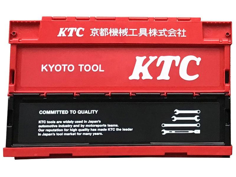 KTC折り畳みコンテナ 50L(レッド)